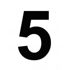 """ΑΥΤΟΚΟΛΛΗΤΑ ΝΟΥΜΕΡΑ LΑRGΕ 21 CΜ ΒLΑCΚ """"5"""""""