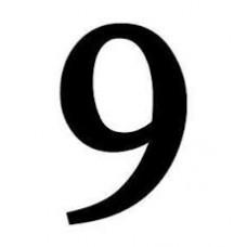 """ΑΥΤΟΚΟΛΛΗΤΑ ΝΟΥΜΕΡΑ  ΜΕDΙUΜ 18 CΜ ΒLΑCΚ """"9"""""""